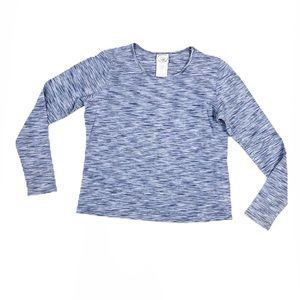 Laura Ashley Blue Marled Long Sleeve Fitted Tee